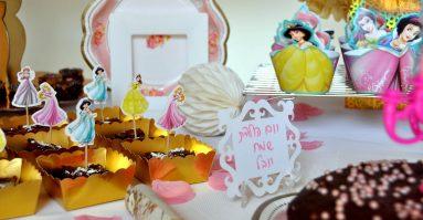 כלים בצבע ורוד ליום הולדת נסיכות