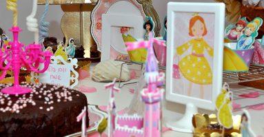 שולחן מעוצב ליום הולדת נסיכות