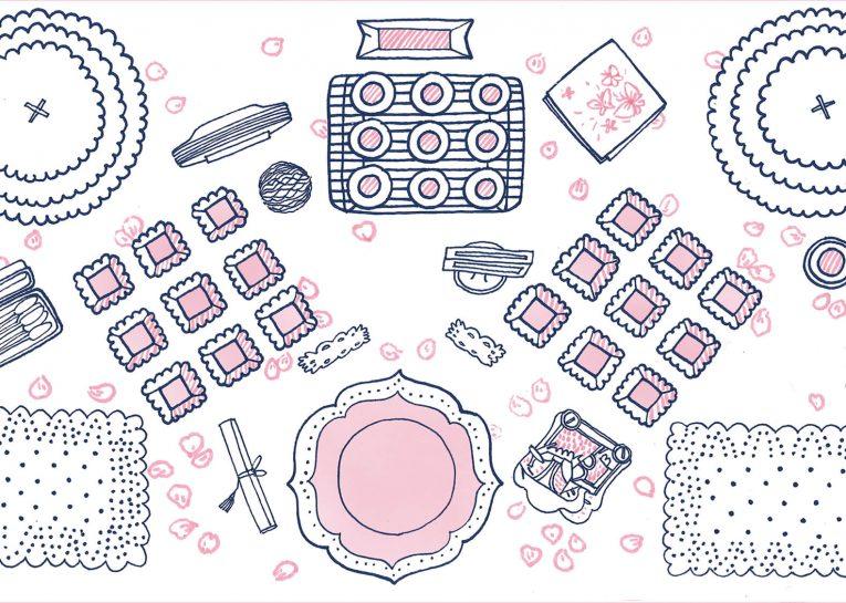 תרשים סידור של ערכת עיצוב נסיכות
